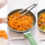 Noodles di patate dolci e verdure saltate in padella vegan senza glutine-3
