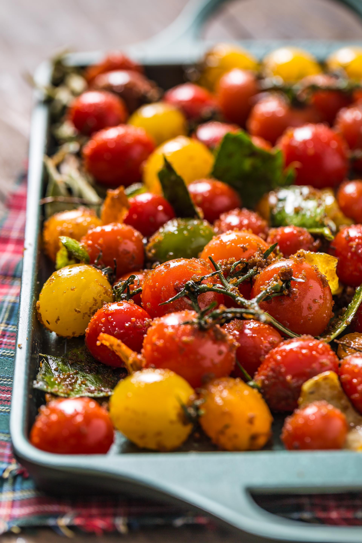 cherry tomato confit bruschetta recipe - ricetta bruschetta con pomodorini confit agli agrumi