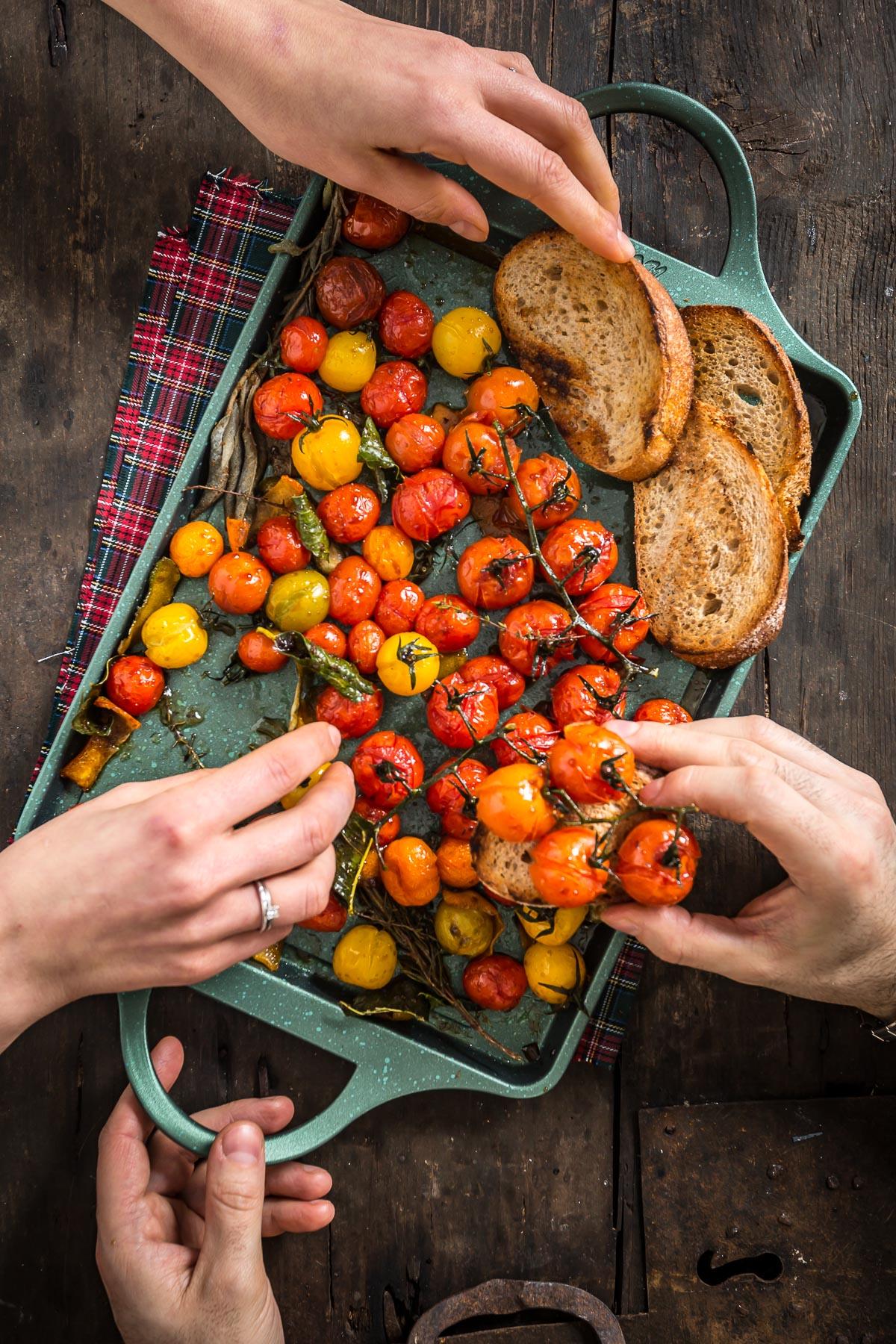 easy cherry tomato confit recipe #vegan - ricetta pomodorini confit agli agrumi
