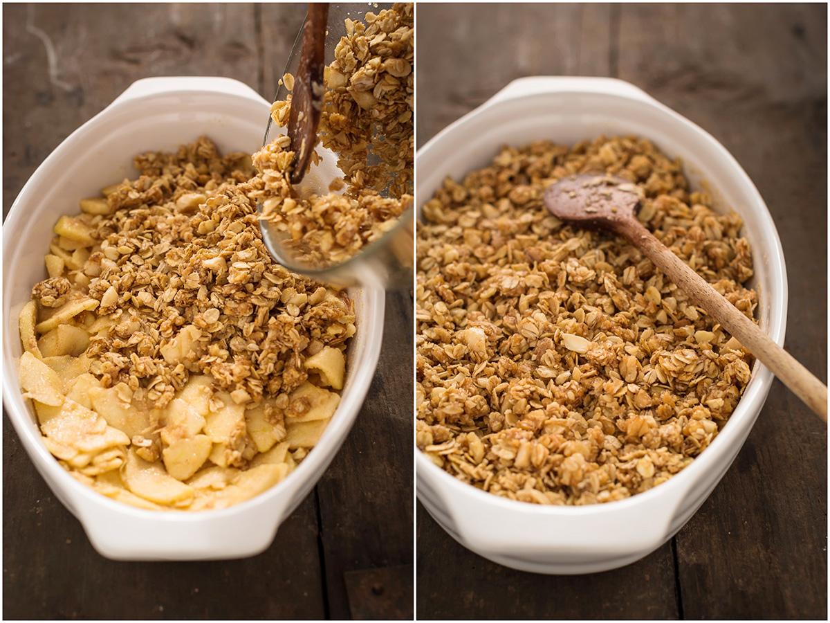 crumble di mele light vegan senza burro - healthy vegan apple crisp