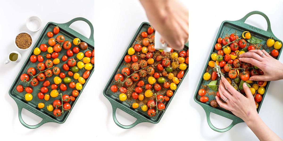 quick and easy cherry tomato confit recipe - ricetta pomodorini confit agli agrumi
