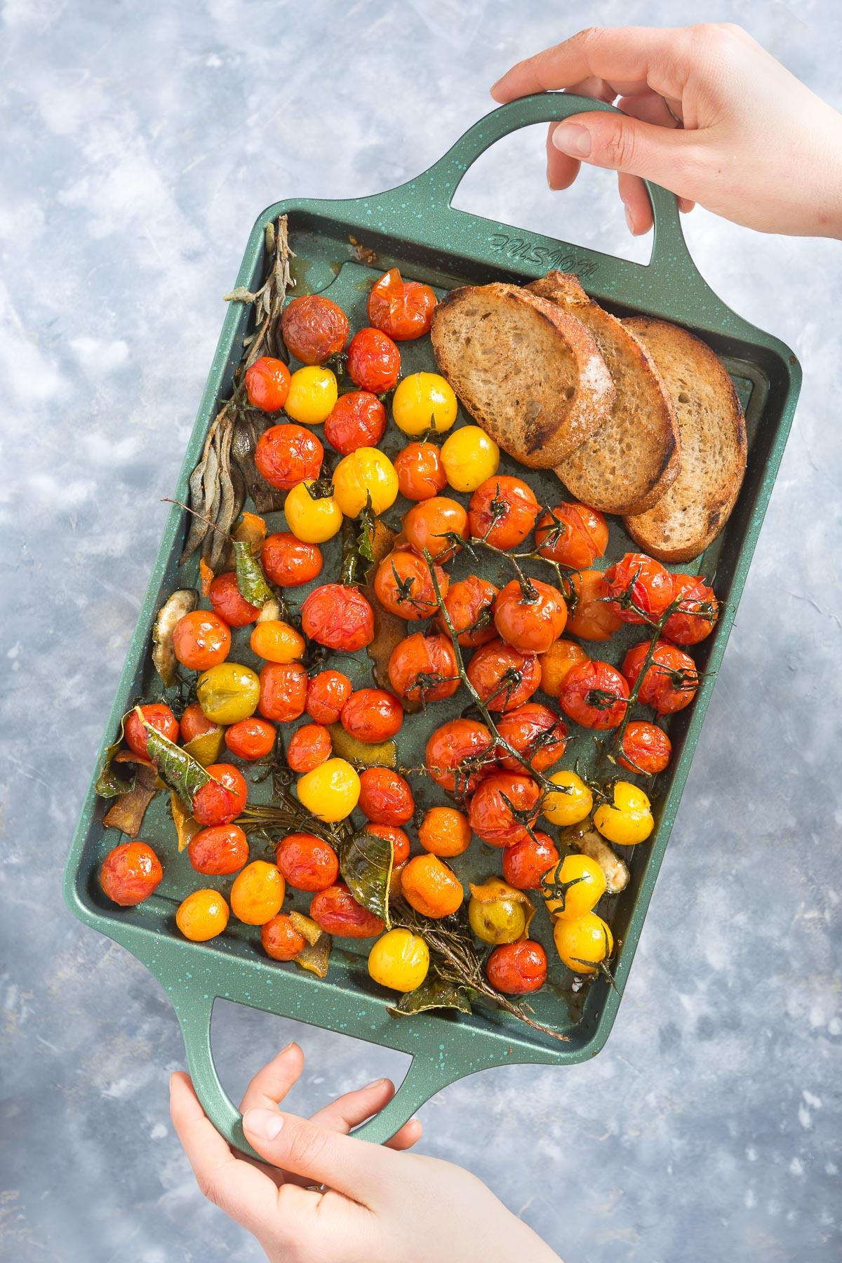 #vegan cherry tomato confit recipe - ricetta pomodorini confit agli agrumi
