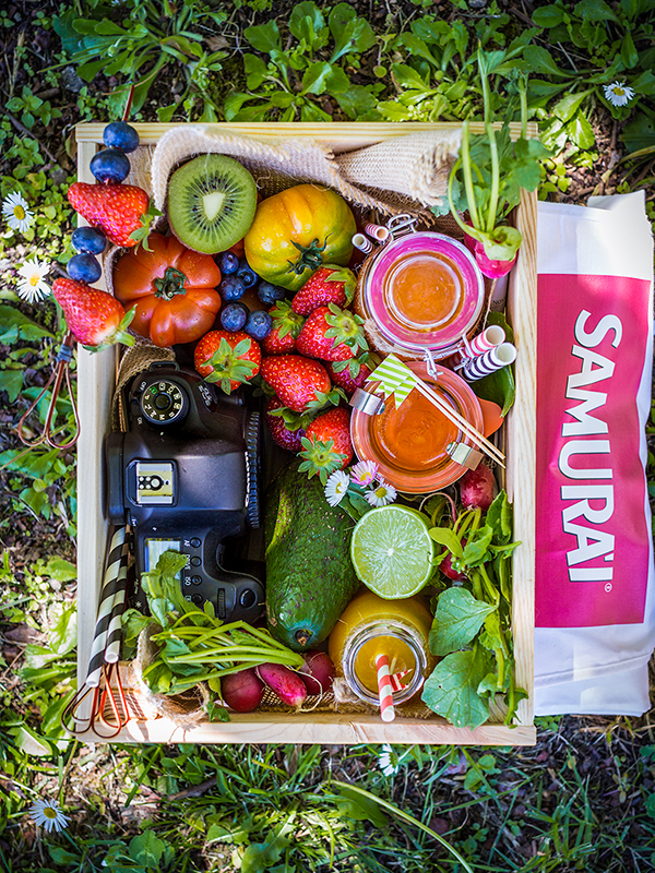 samurai contest fresh fruit juice spring garden photography beauty food blog