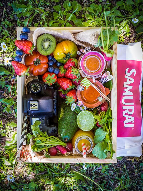 samurai contest fresh fruit juice spring garden photography beauty food blog