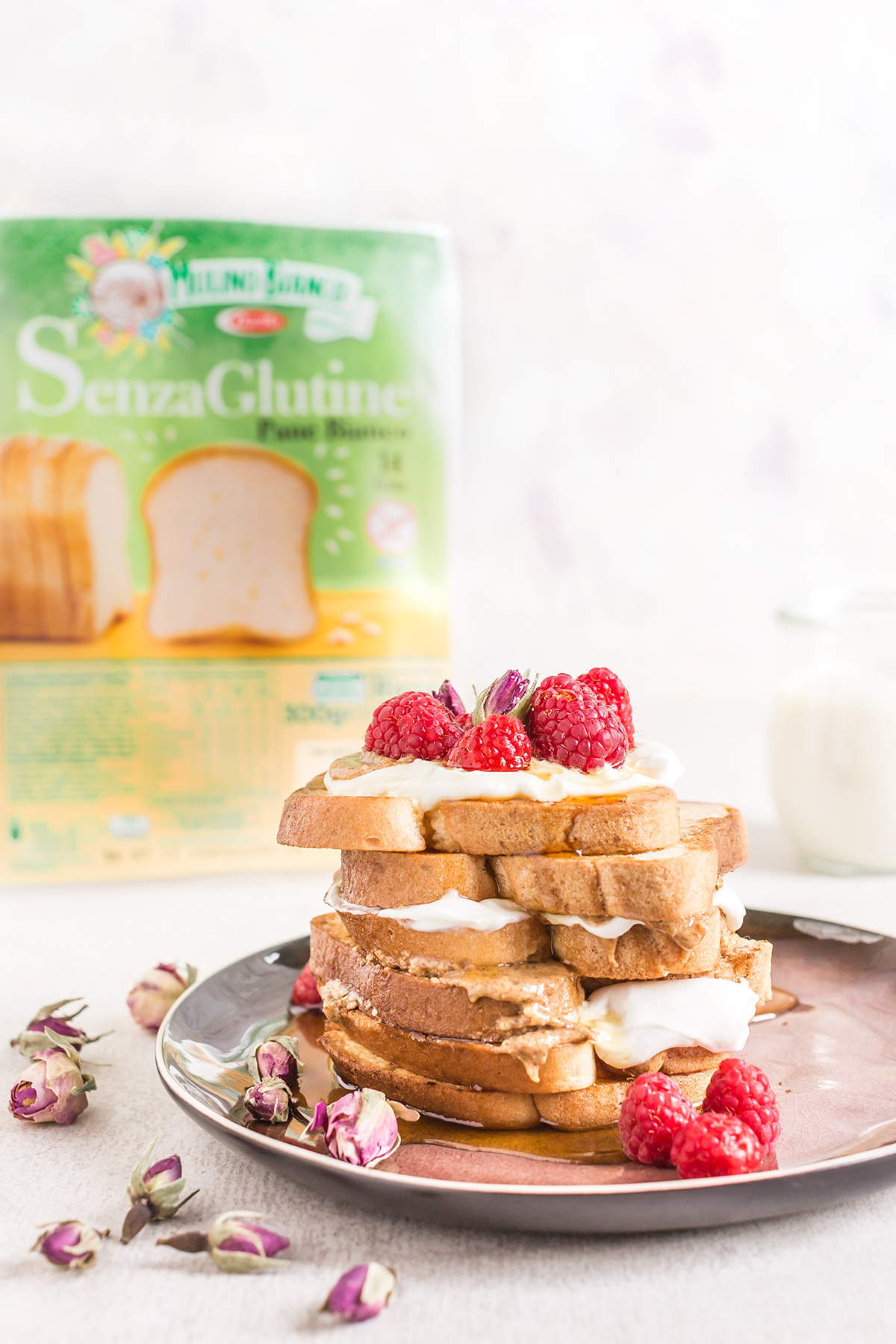 #VEGAN #glutenfree FRENCH TOAST recipe with vanilla and coconut whipped cream - ricetta FRENCH TOAST vegan senza glutine alla vaniglia