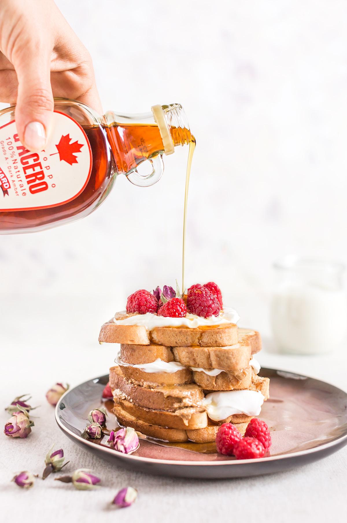 #vegan FRENCH TOAST #glutenfree recipe with coconut whipped cream - ricetta FRENCH TOAST VEGAN SENZA GLUTINE alla vaniglia in padella e al forno