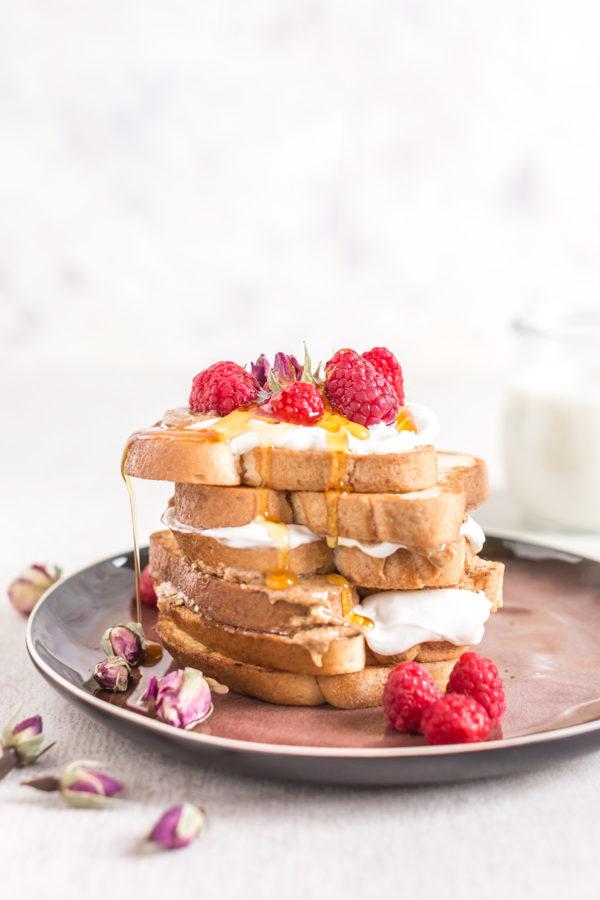#vegan #glutenfree FRENCH TOAST recipe with vanilla and coconut whipped cream - FRENCH TOAST VEGAN SENZA GLUTINE alla vaniglia in padella e al forno