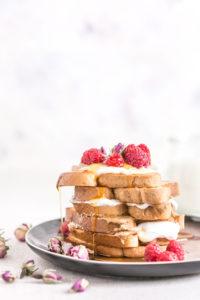 #vegan #glutenfree FRENCH TOAST with coconut whipped cream - FRENCH TOAST VEGAN SENZA GLUTINE alla vaniglia in padella e al forno