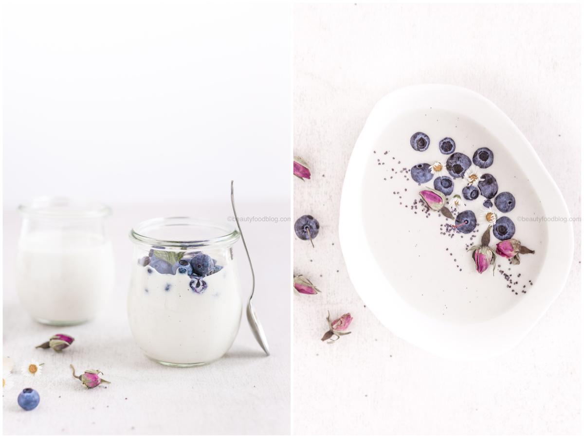 easy homemade #vegan yogurt recipe - how to make homemade vegan cashew yogurt no #yogurt maker no soy - ricetta yogurt vegan fatto in casa senza yogurtiera raw agli anacardi o mandorle