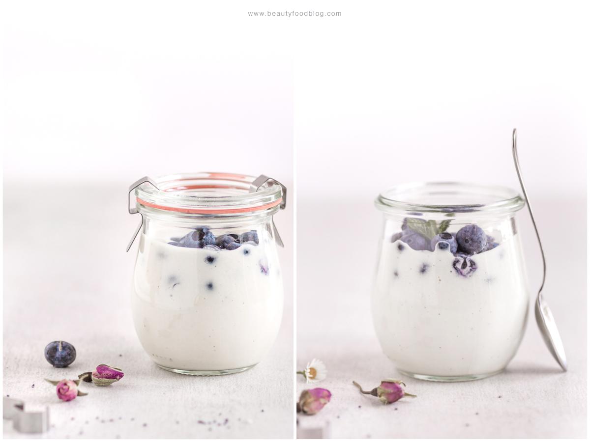 ricetta yogurt vegan fatto in casa senza yogurtiera raw agli anacardi o mandorle - easy homemade vegan yogurt recipe - how to make homemade vegan yogurt no yogurt maker no soy beauty food blog