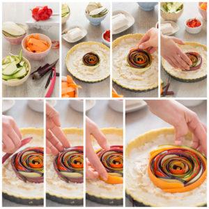 torta salata di verdure a spirale senza glutine senza uova senza burro #vegan ricetta passo passo | vegan #glutenfree vegetable spiral tart step by step 1