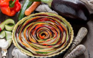 torta salata di verdure a spirale senza glutine senza uova senza burro #vegan | vegan #glutenfree vegetable spiral savoury tart soyfree eggfree