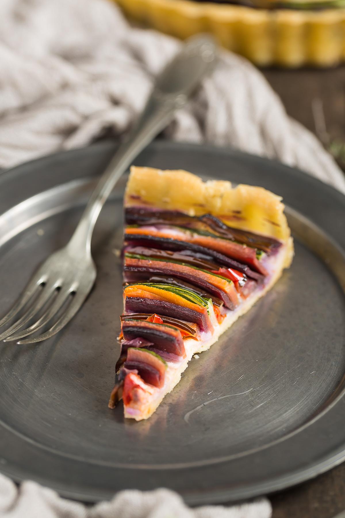 torta salata di verdure a spirale senza glutine senza uova senza burro #vegan | vegan #glutenfree vegetable spiral tart recipe