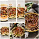 torta salata di verdure a spirale senza glutine senza uova senza burro #vegan | vegan #glutenfree vegetable spiral tart step by step 2