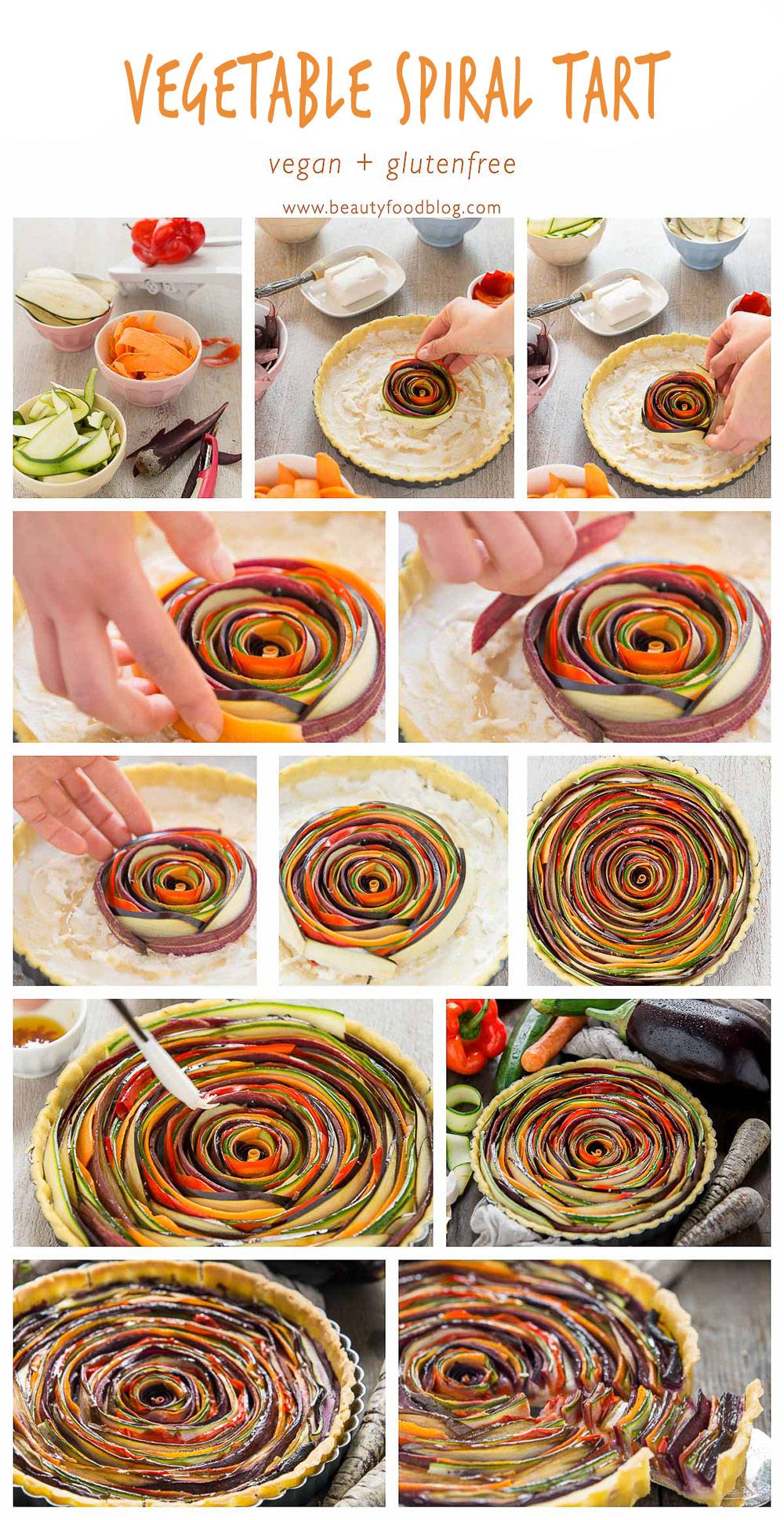 vegan #glutenfree VEGETABLE SPIRAL TART step by step. | torta salata di verdure a spirale #senzaglutine senza uova senza burro #vegan ricetta