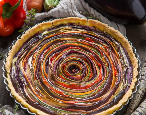 VEGAN VEGETABLE SPIRAL TART – GLUTEN-FREE