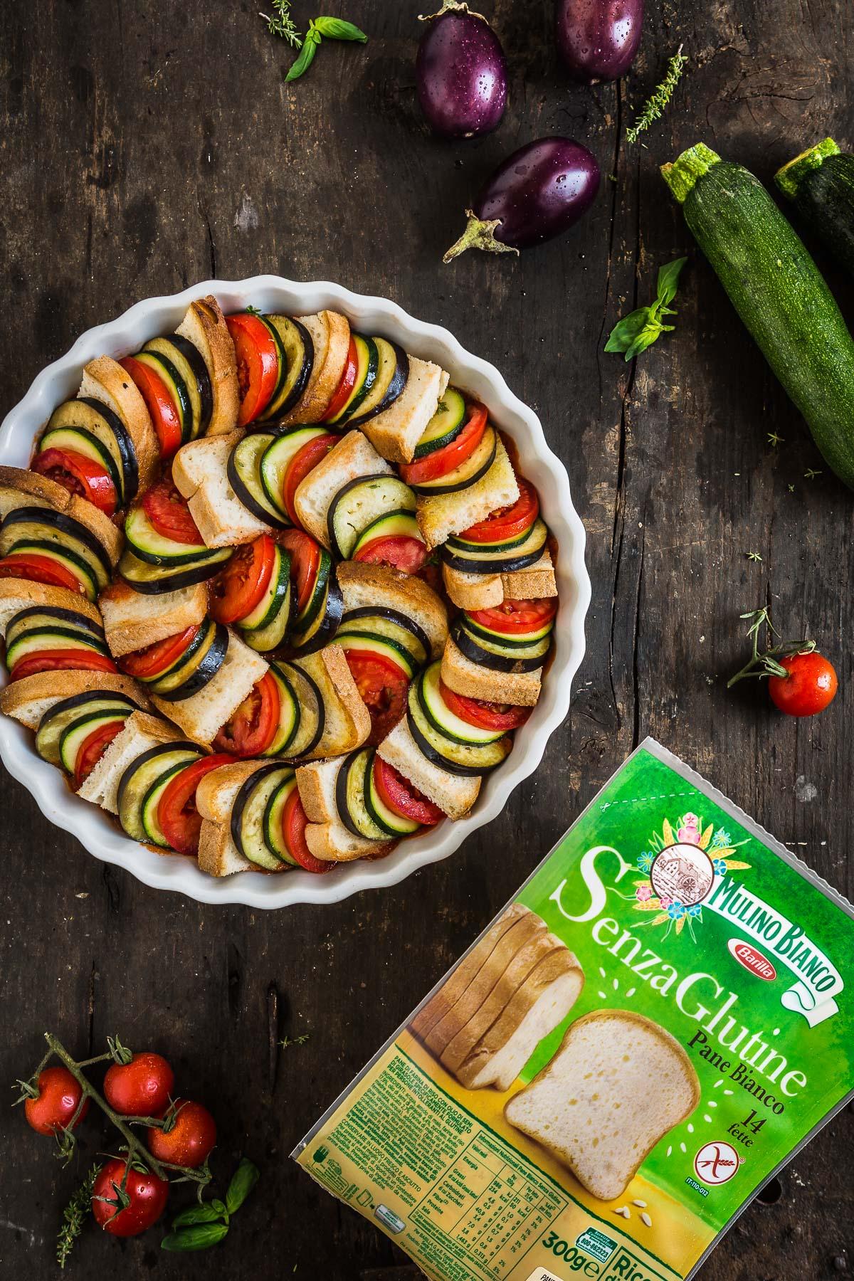 TIAN RATATOUILLE di pane senza glutine e verdure con melanzane zucchine pomodori - #vegetable VEGETABLE BREAD RATATOUILLE TIAN recipe #vegan #glutenfree