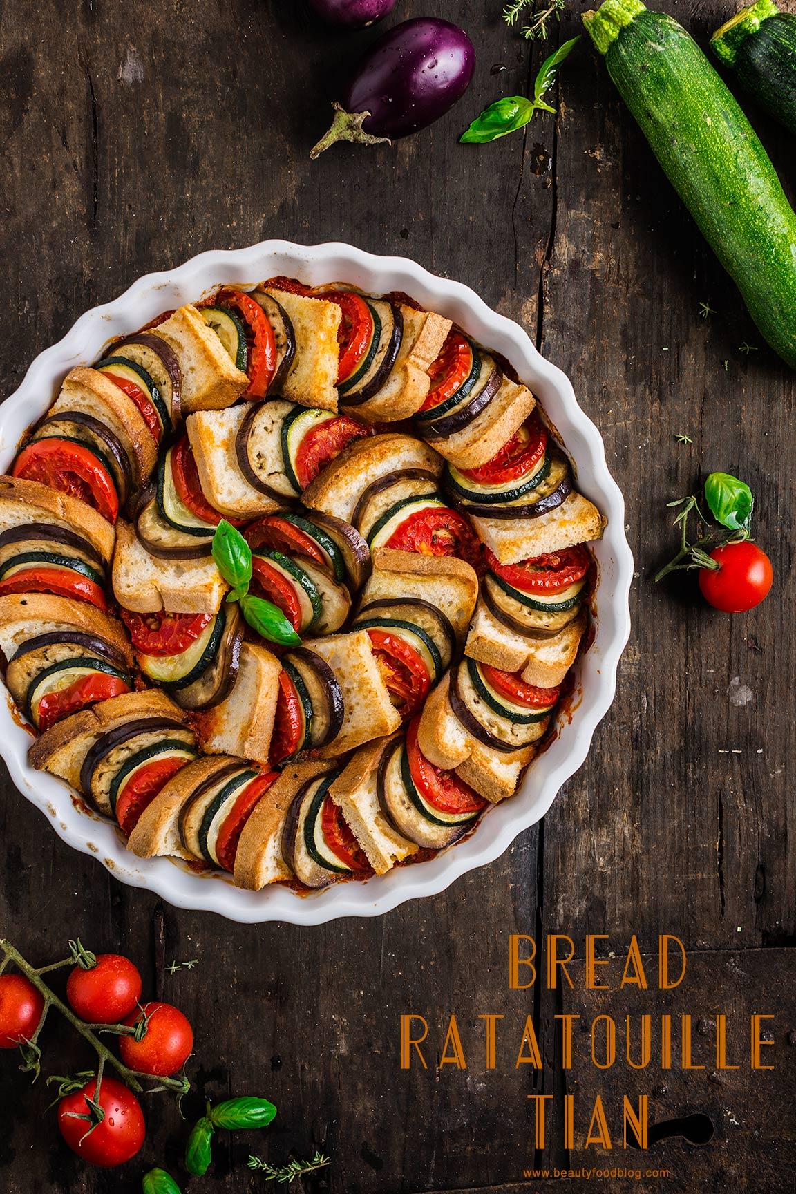 VEGETABLE BREAD #RATATOUILLE TIAN recipe - TIAN RATATOUILLE di pane senza glutine con verdure melanzane zucchine pomodori