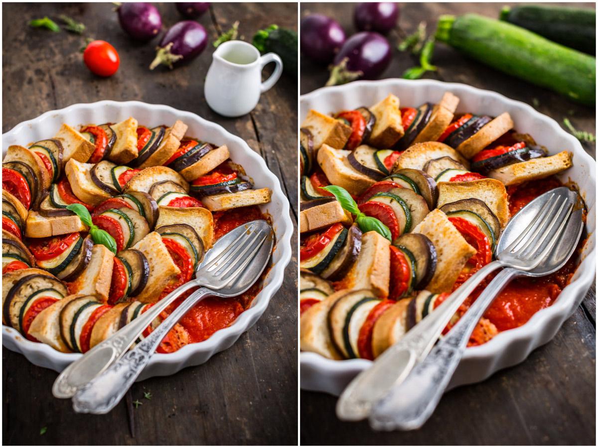 VEGETABLE BREAD RATATOUILLE TIAN recipe #vegan #glutenfree - TIAN RATATOUILLE di pane e verdure ricetta senza glutine con melanzane zucchine pomodori
