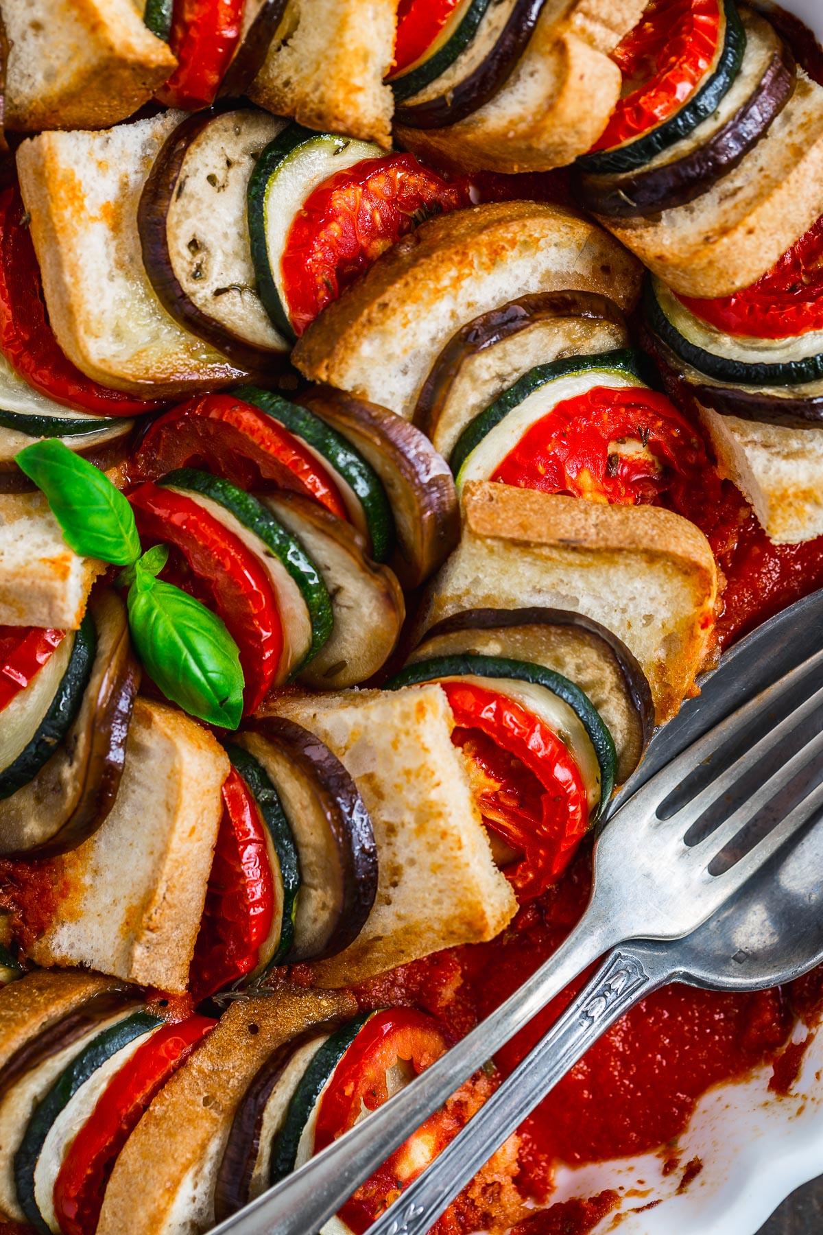 VEGETABLE BREAD RATATOUILLE TIAN recipe #vegan #glutenfree eggplant - TIAN RATATOUILLE di pane senza glutine e verdure