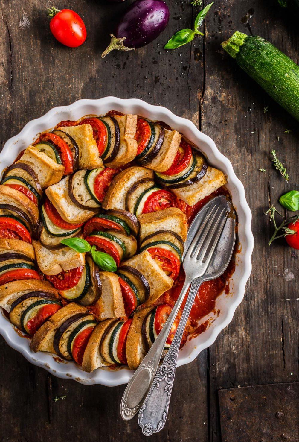 TIAN RATATOUILLE di PANE e VERDURE  – Vegan Senza Glutine