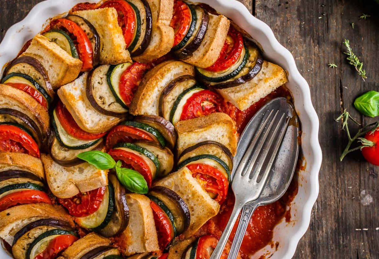 ricetta TIAN RATATOUILLE di pane e verdure senza glutine - vegetable bread ratatouille tian recipe #vegan #glutenfree.