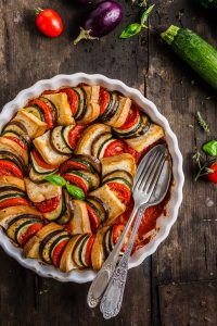 ricetta TIAN RATATOUILLE di pane e verdure senza glutine - vegetable bread ratatouille tian recipe #vegan #glutenfree.