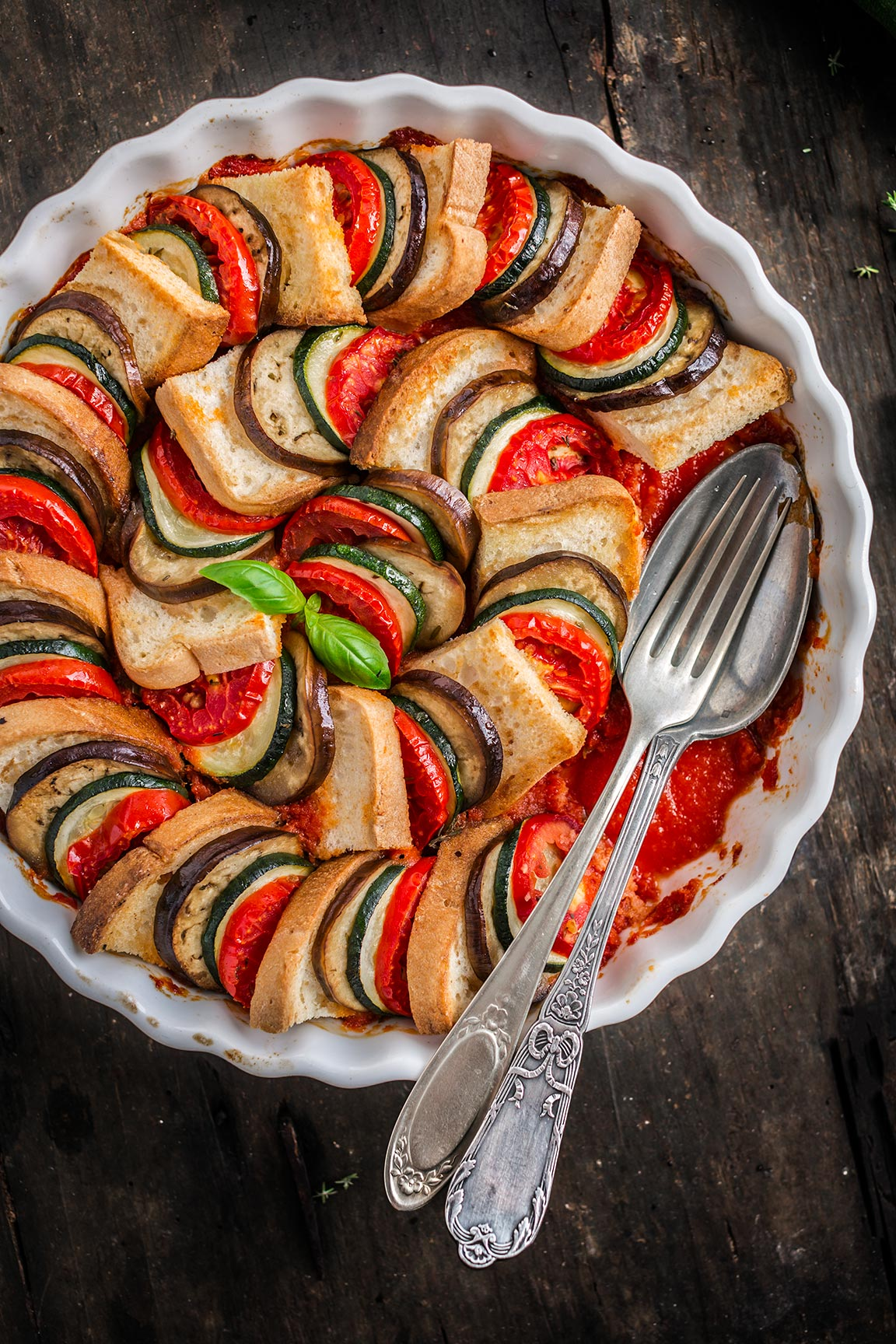 vegetable bread RATATOUILLE TIAN #vegan #glutenfree tian raratouille di pane e verdure - ricetta senza glutine vegan