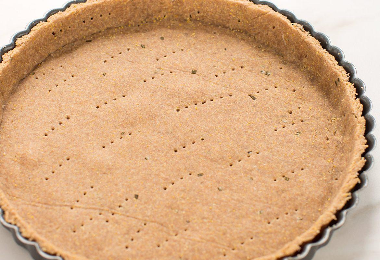 easy vegan savory pie crust NO coconut oil - pasta brise vegan al farro integrale- pasta frolla salata vegana