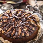 whole grain vegan gluten-free pear #chocolate cake refined sugar free - torta pere e cioccolato vegan senza glutine senza burro senza uova leggera facile integrale senza zucchero raffinato