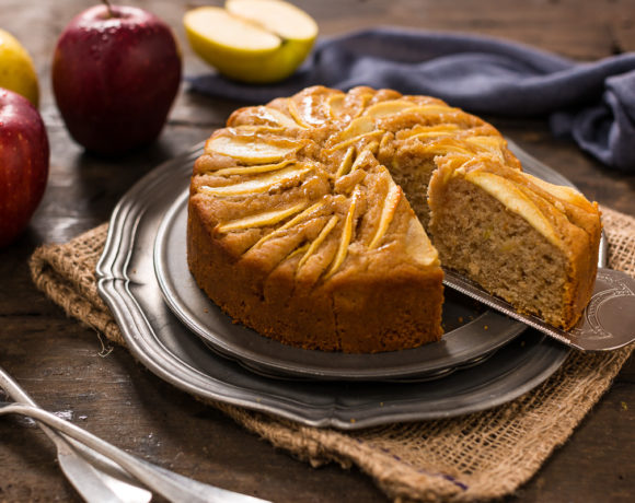 easy Italian vegan apple cake rifned sugar free whole spelt flour - torta di mele vegan all'arancia light farro integrale
