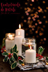 CENTROTAVOLA di NATALE fai da te - idea regalo di #Natale facile ultimo minuto - #christmas centerpiece #DIY