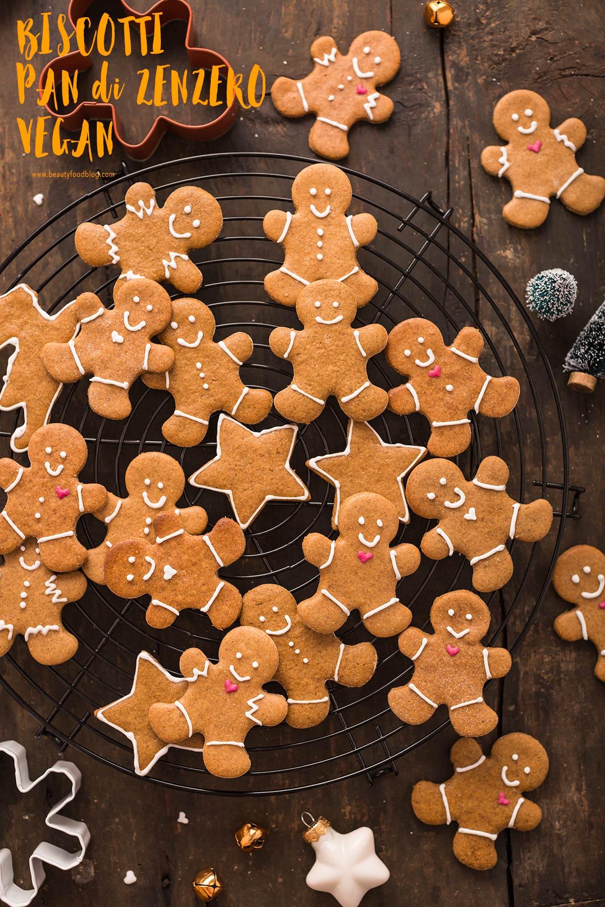 delicious vegan gingerbread man vegani - biscotti pan di zenzero vegani croccanti leggeri friabili #vegan gingerbread senza burro