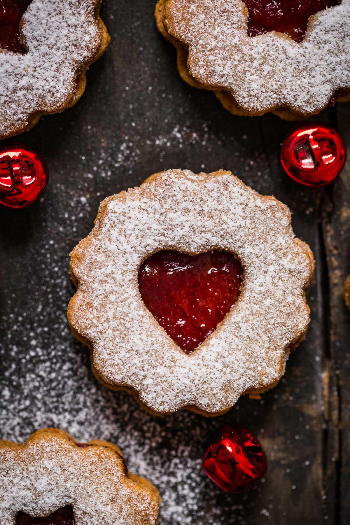 ricetta originale BISCOTTI LINZER VEGANI senza burro senza uova biscotti di Natale -VEGAN LINZER COOKIES easy recipe Christmas cookies 2