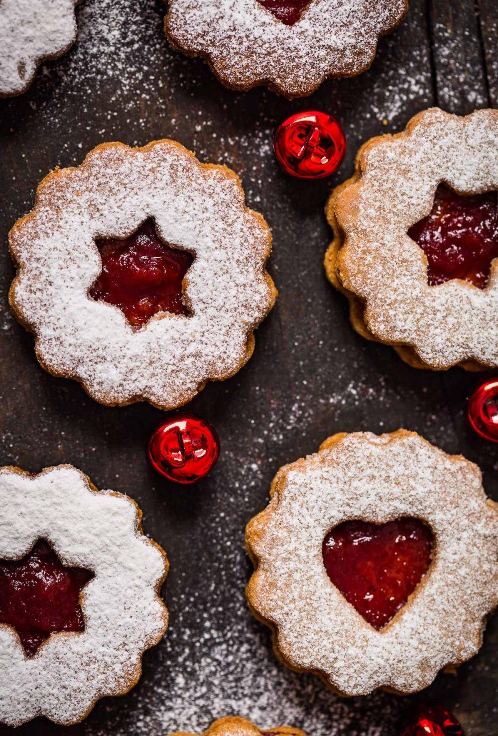 ricetta originale BISCOTTI LINZER VEGANI senza burro senza uova biscotti di Natale vegan VEGAN LINZER COOKIES original recipe Christmas cookies
