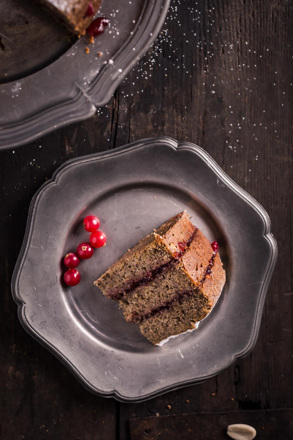 ricetta TORTA di GRANO SARACENO VEGAN SENZA GLUTINE altoatesina con marmellata di mirtilli rossi mandorle e mele senza burro senza uova - BUCHWEIZENTORTE Schwarzplententorte #vegan #glutenfree BUCKWHEAT APPLE CAKE with ALMONDS #apple #cake