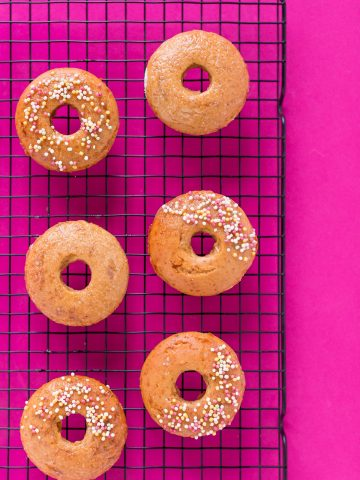 donuts al forno vegan senza glutine soffici light integrali fluffy vegan glutenfree baked donuts recipe #vegan #glutenfree