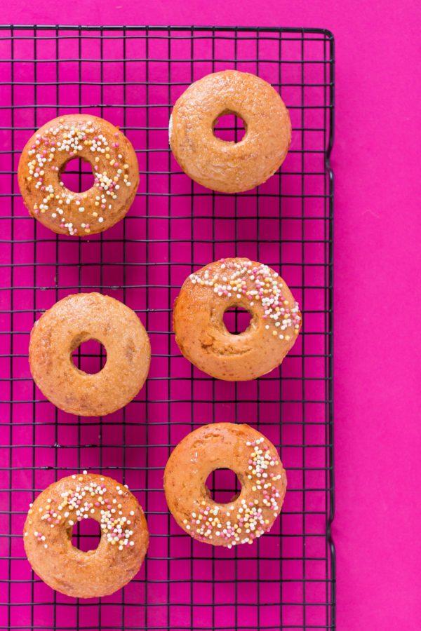 donuts al forno vegan senza glutine soffici light integrali fluffy vegan glutenfree baked donuts recipe #vegan #glutenfree