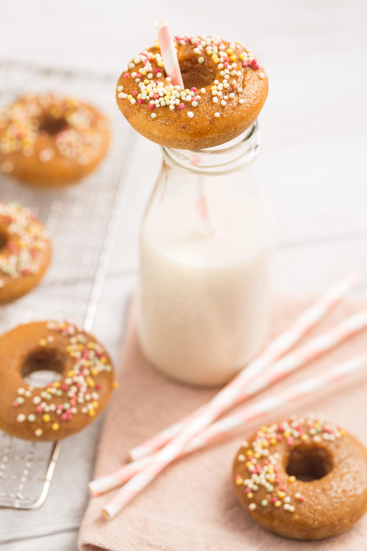 ricetta donuts al forno vegan senza glutine vegan glutenfree baked donuts recipe #vegan #glutenfree #senzaglutine
