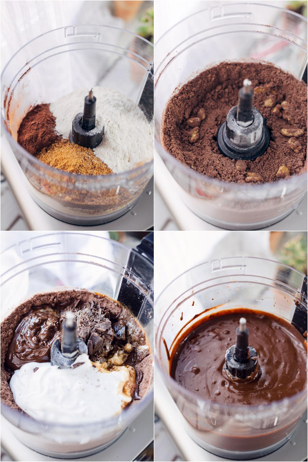 how to make healthy VEGAN GLUTENFREE BROWNIE recipe come preprare la ricetta BROWNIES VEGAN SENZA GLUTINE facili light sani senza farine raffinate senza zuccheri raffinati simple