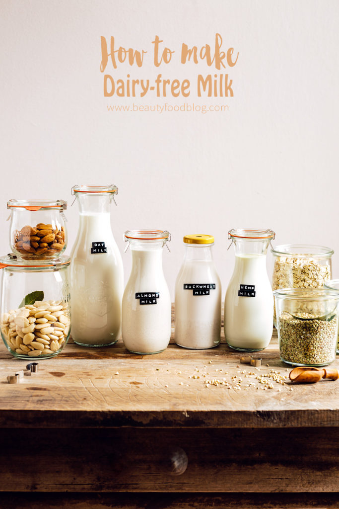 How to make DAIRY FREE MILK guide vegan glutenfree nutfree dairyfree with slow juicer come preparare il LATTE VEGETALE FATTO IN CASA con estrattore o frullatore Mini guida senza lattosio vegan