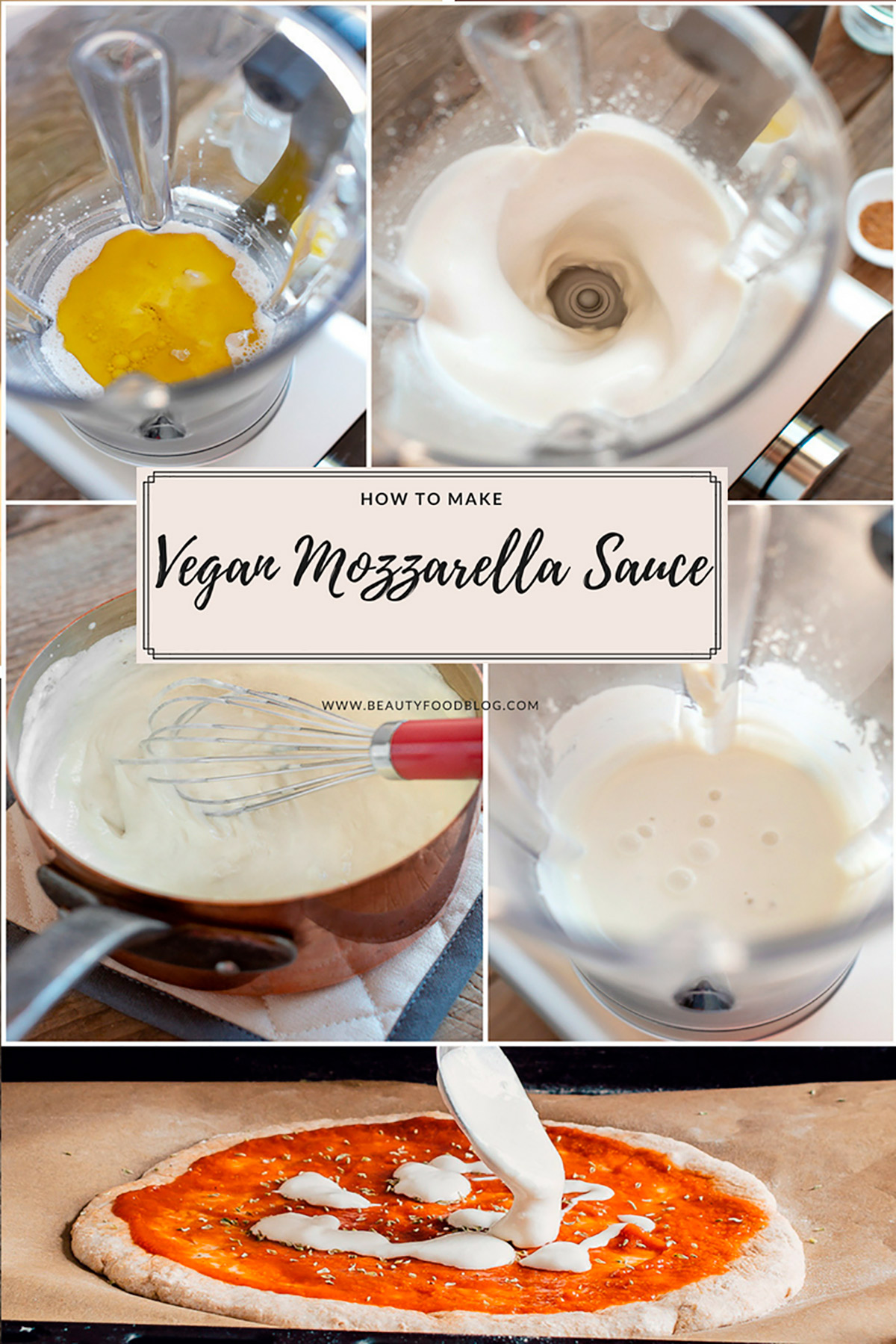 SALSA MOZZARELLA VEGAN facile e veloce solo 5 ingredienti mozzarella vegan filante VEGAN MOZZARELLA SAUCE simple easy only 5 INGREDIENTS #glutenfree
