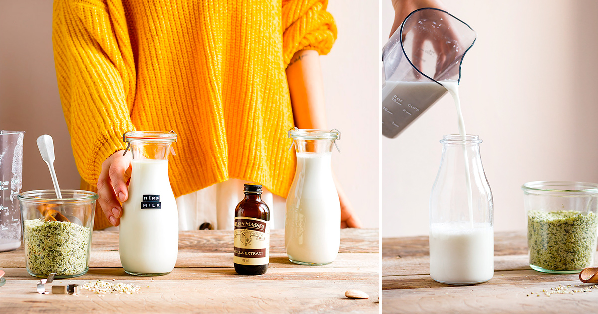 come fare il LATTE DI CANAPA fatto in casa 2 ingredienti cremoso leggero ricco di proteine senza glutine senza lattosio how to make vegan glutenfree HEMP MILK recipe dairyfree