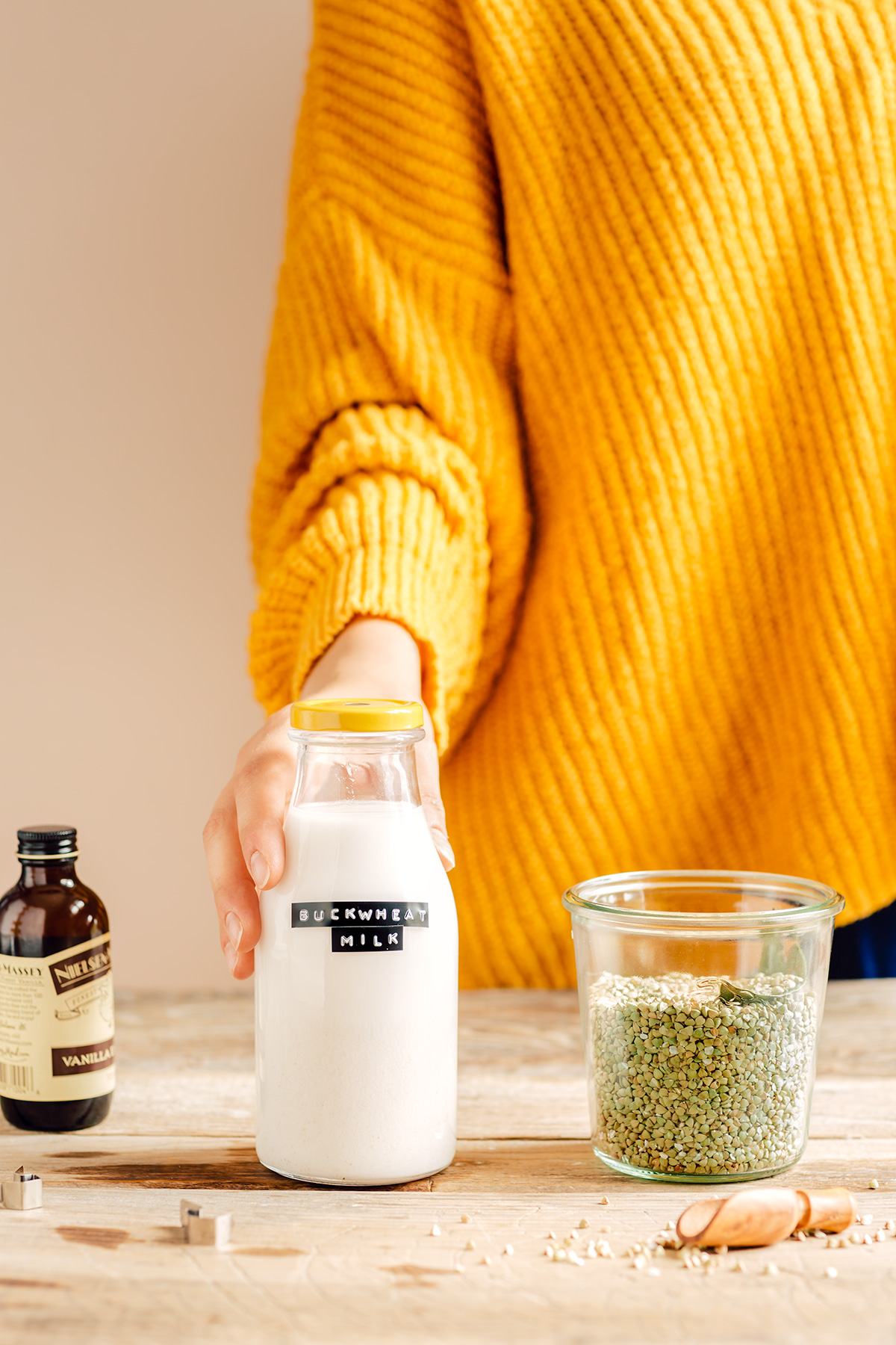 come preparare il LATTE di GRANO SARACENO fatto in casa cremoso ricetta facile veloce How to make BUCKWHEAT MILK at home with slow juicer #dairyfree milk glutenfree vegan