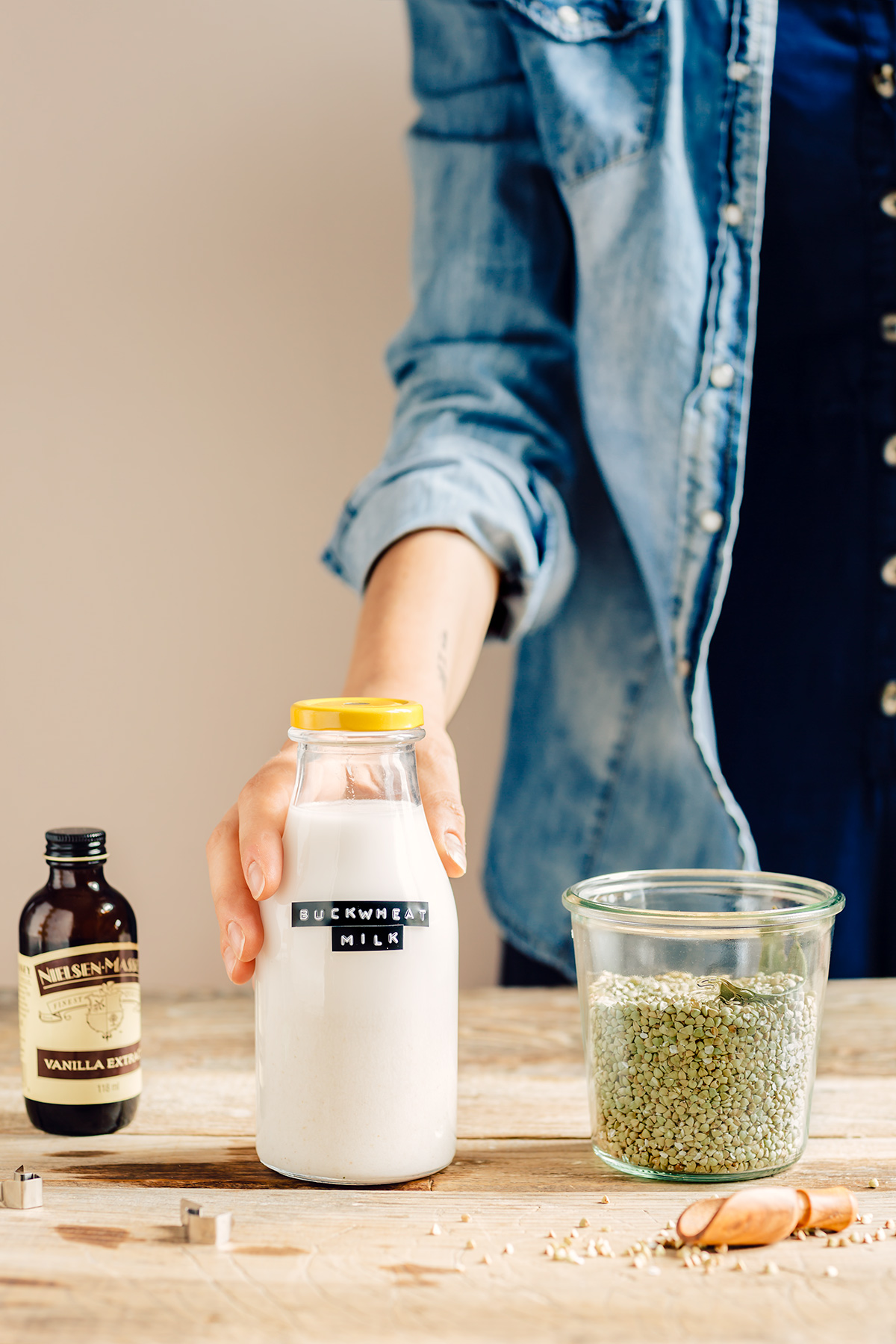 come preparare il LATTE di GRANO SARACENO fatto in casa ricetta facile veloce How to make BUCKWHEAT MILK at home with slow juicer #dairyfree milk vegan glutenfree