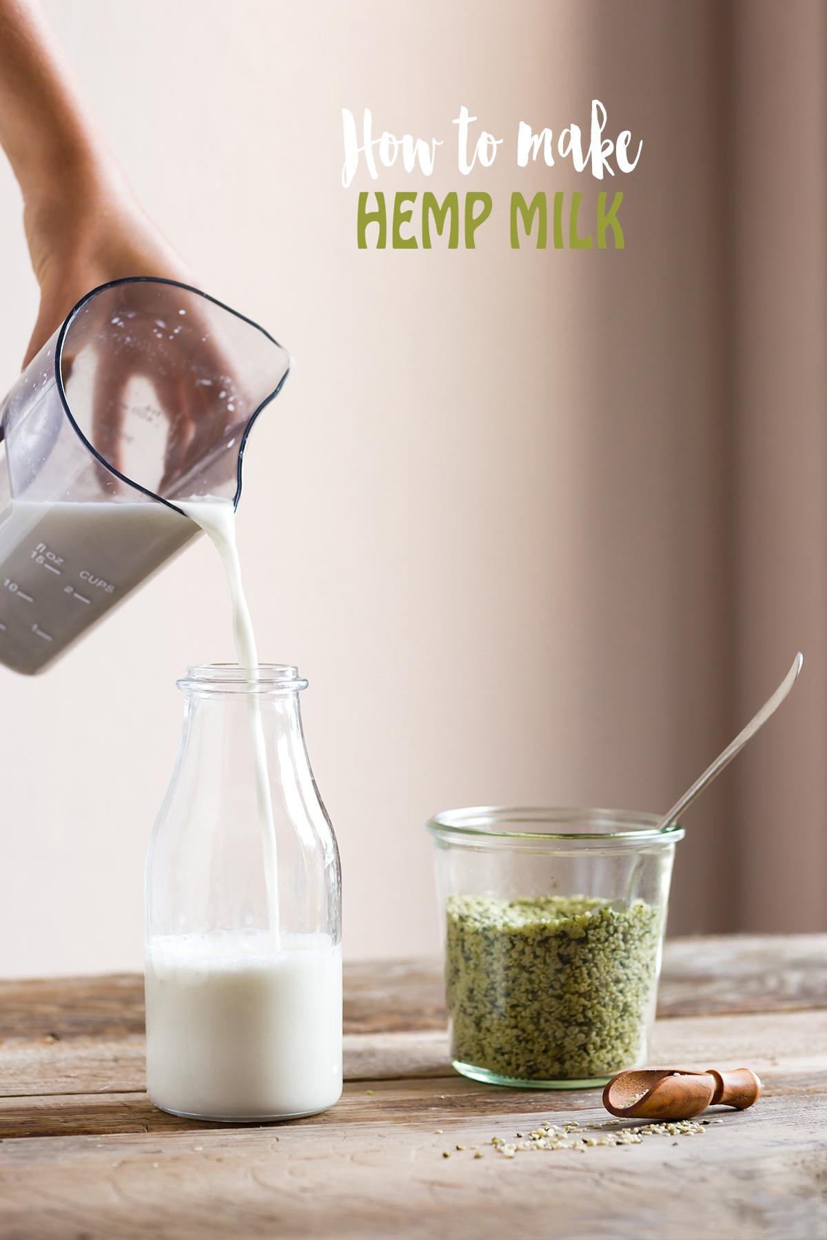 how to make vegan glutenfree HEMP MILK recipe dairyfree come fare il LATTE DI CANAPA fatto in casa ricetta 2 ingredienti cremoso leggero ricco di proteine senza lattosio senza glutine