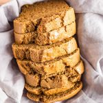 VEGAN CARROT ALMOND LOAF CAKE with wholemeal spelt flour