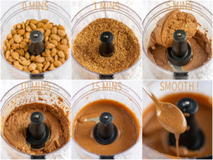 ricetta BURRO di MANDORLE attivate fatto in casa foto step by step how to make Homemade activated ALMOND BUTTER #vegan smooth