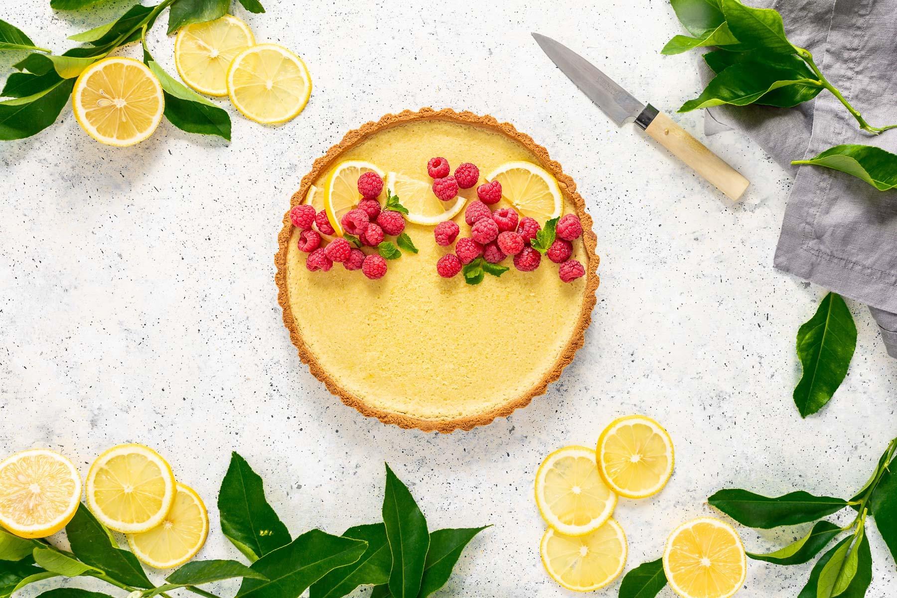 Gluten-Free Vegan Lemon Tart with Almond Crust recipe CROSTATA al LIMONE VEGAN con pasta FROLLA ALLE MANDORLE senza glutine senza zucchero raffinato
