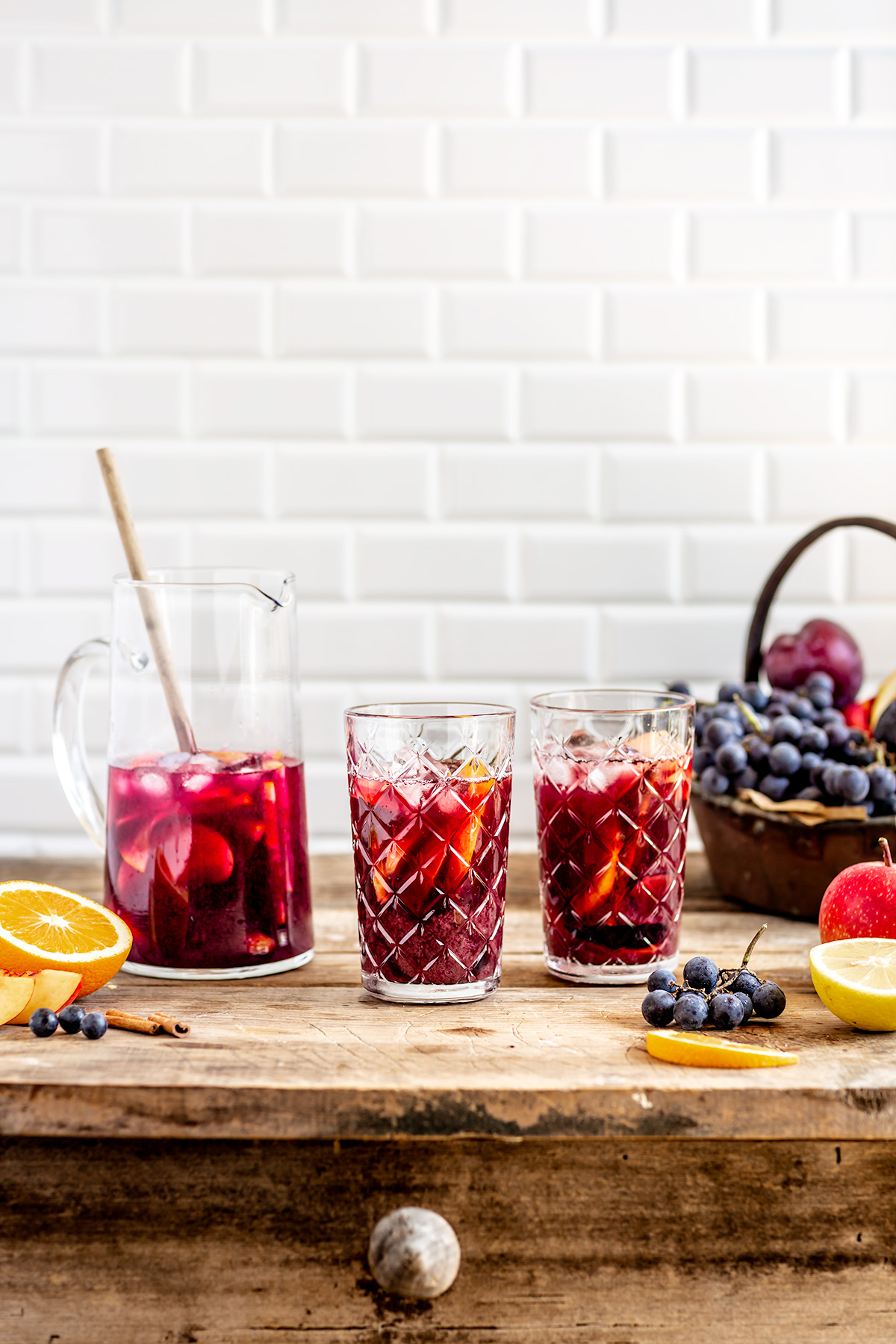 Simple HEALTHY non alcoholic kombucha SANGRIA vegan recipe ricetta SANGRIA analcolica al KOMBUCHA facile light sansa